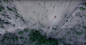 "Alex Honnold climbing ""El Sendero Luminoso"" – big wall, without a rope"